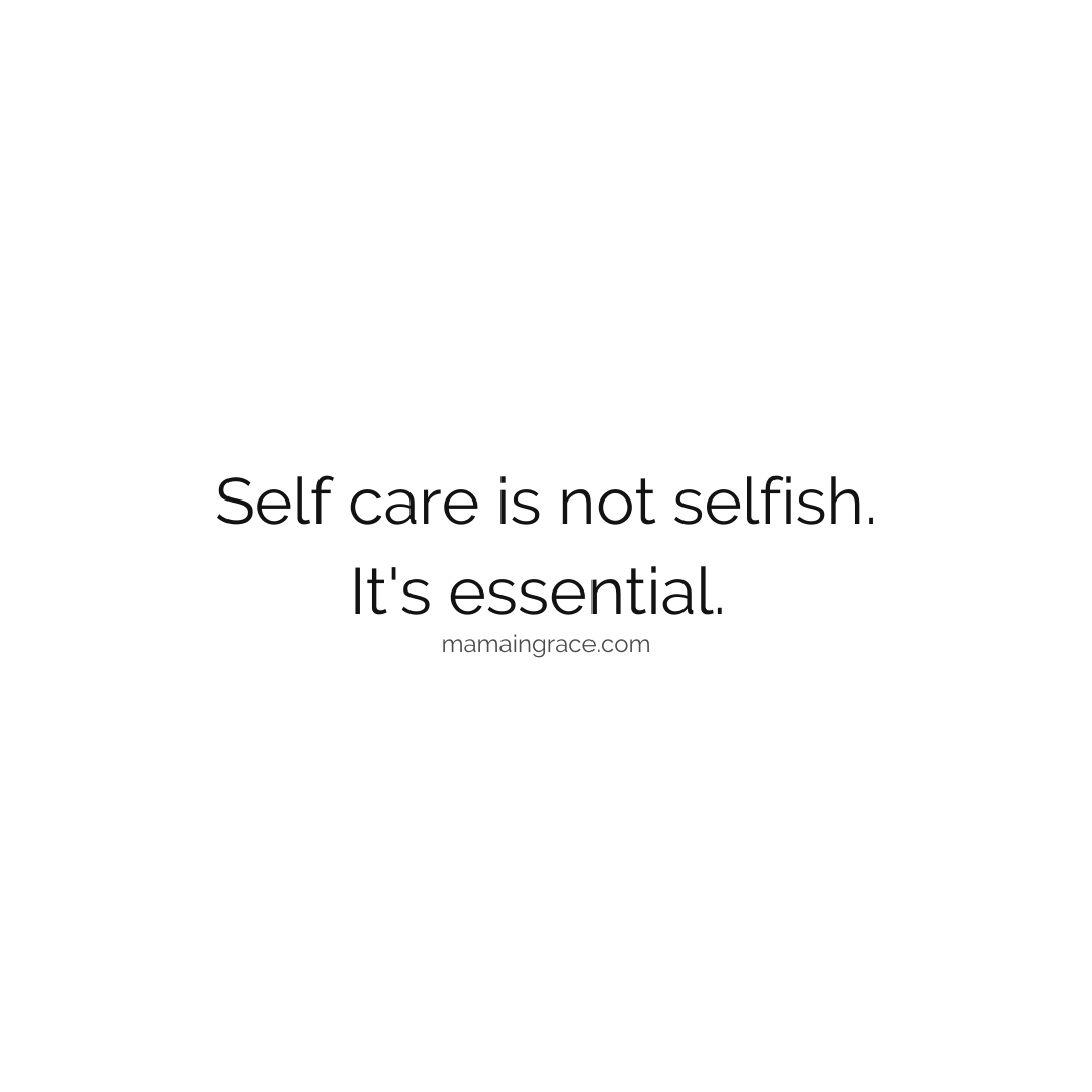 self care is not selfish its essential