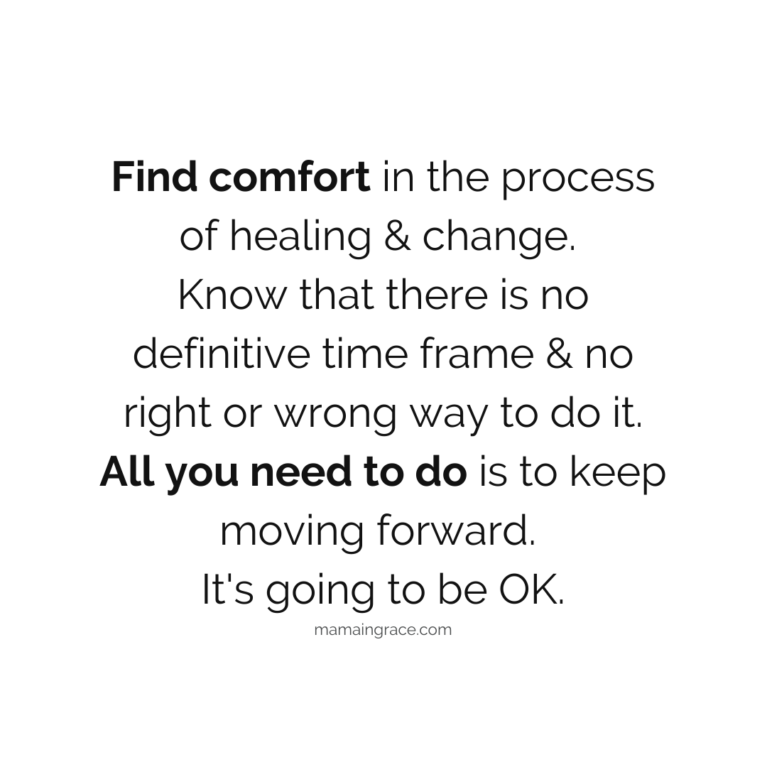 find comfort in the process