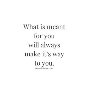 what is meant for you