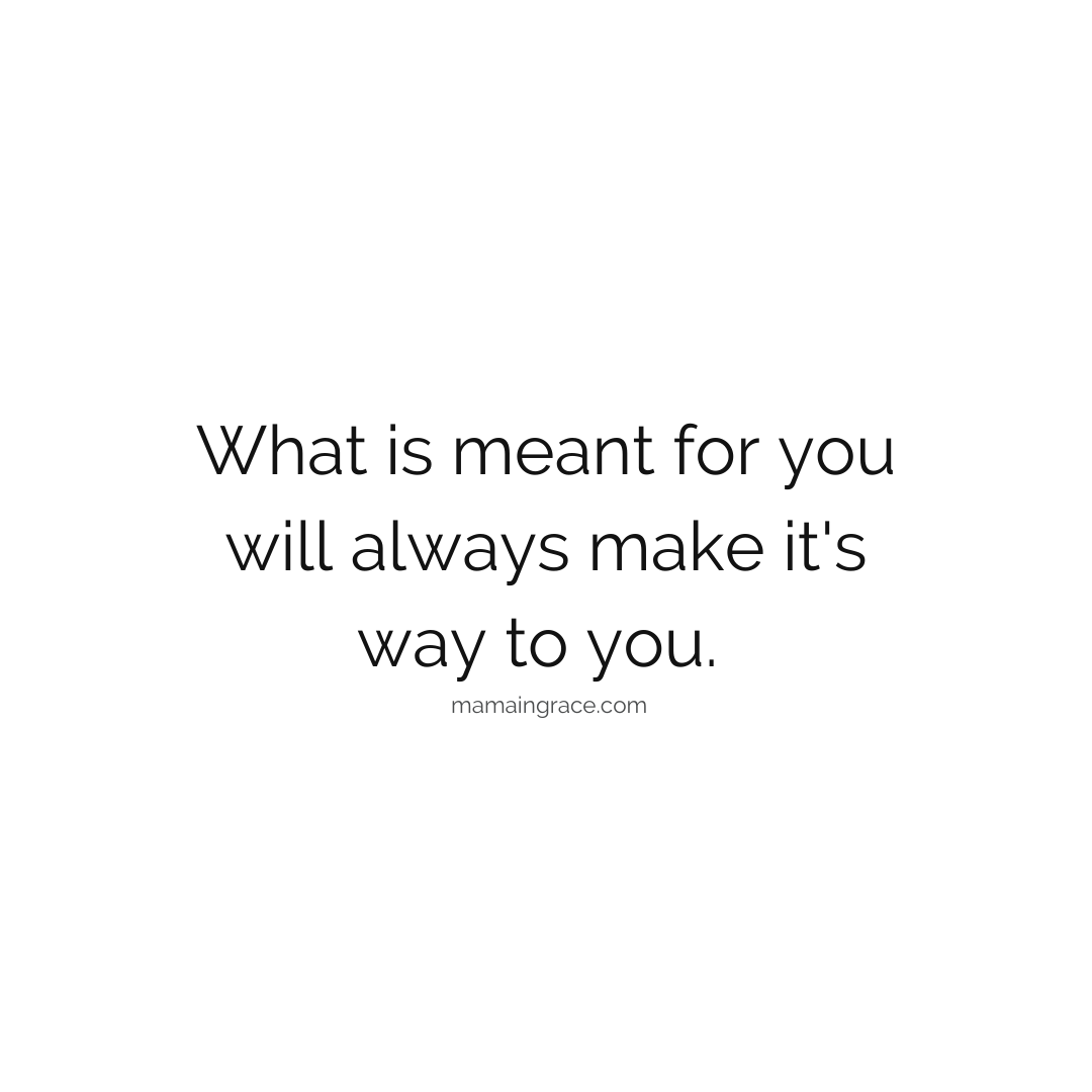 meant for you
