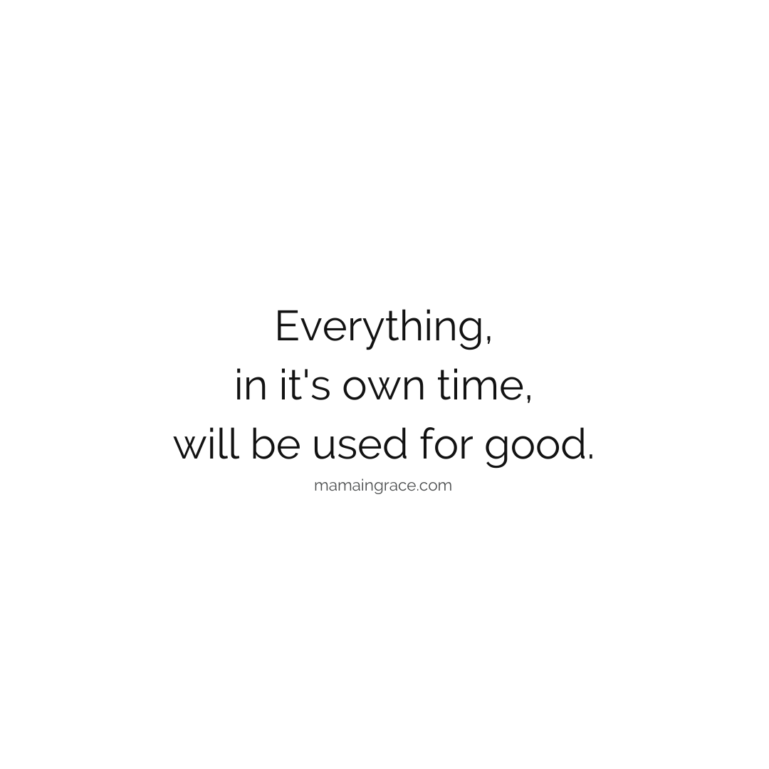 everything will be used