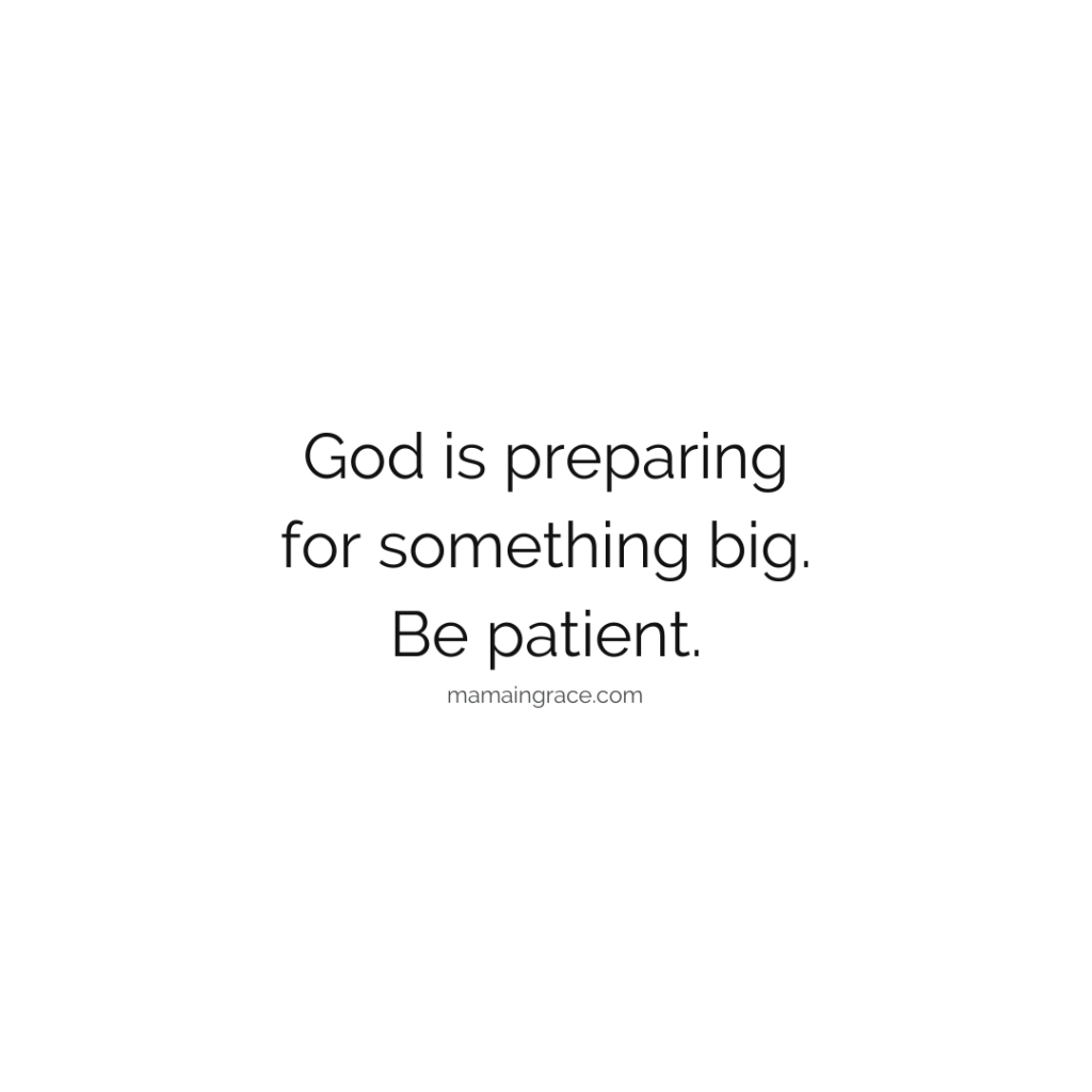 god is preparing