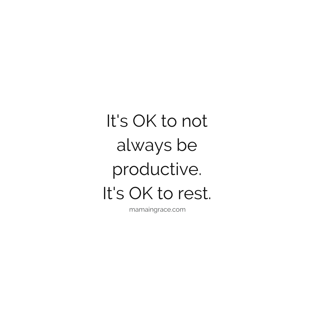 its ok to rest